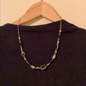 Lia Sophia short black & silver necklace